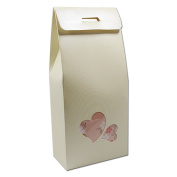 Kraft Paper Take-Out Food Box Container Candy Biscuits Cupcake Packaging Boxes Cardboard Party Event Gift Favour Wrapping for Baking Handmade Soap Storage 11x23+5cm (4.3x9+2 inch)