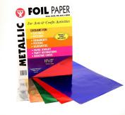 Metallic Foil Paper, 25cm x 33cm , 50 Sheets, Assorted Colours