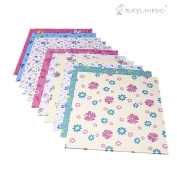 Raylinedo 144 Sheets Craft Folding Origami Paper Washi Folding Paper 15CM15CM with Different Colours and Patterns