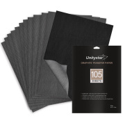 Carbon Paper, UnityStar Graphite Transfer Paper Tracing Paper 105 Sheets (23cm x 33cm ) for Copying Patterns on Paper Wood Metal Painted Canvas or Art Surfaces, for Artists, Grey