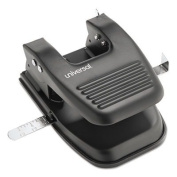 UNIVERSAL OFFICE PRODUCTS 74222 30-Sheet Two-Hole Punch, 9/32quot; Holes, Black