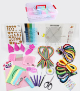 YURROAD Paper Quilling Kit with 1740 Strips and Paper Quilling Tools and Storage Box