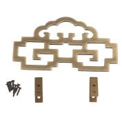 RDEXP 11cmx6.3cm Brass Chinese Style Painting Picture Frame Hanger Hanging Hooks CYJ020 Antique Bronze Colour