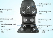 AMYMGLL Car massage equipment Multi-function electric car massage pad massage mattresses foldable to eliminate difficulty to relieve pain black size 122 * 52 ** cm