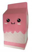 LaliLaco Squishy slow rising Pink Milk Box soft (height 11.5cm) Faint Scent