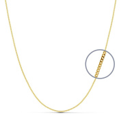 18k gold chain solid curb 40 cm. 1 mm. 2.60 g. [9486]