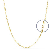 18k gold chain bilbao solid 60 cm. 1.2 mm. 3.30 g. [9465]