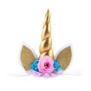 Pawaca Unicorn Headband Girl's Hairband For Party Wedding Cosplay Costume Photograph