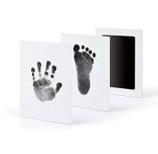 XXYsm Newborn Footprint Ink Pad Handprint Non-Toxic Clean-Touch Pearhead Inkless