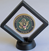 Black Diamond Square Medal / Challenge Coin Chip Display Stand Holder CN14