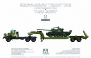 Takom 1:35 KRAAZ-260V Tractor ChMZAP-5247G Semi-Trailer & T-55 AMV Kit #2095