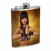 Egyptian Pin Up Glrls Egypt S9 Flask Stainless Steel 240ml Hip Silver Whiskey Drinking Spirits Liquor