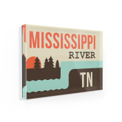 Fridge Magnet USA Rivers Mississippi River - Tennessee - NEONBLOND