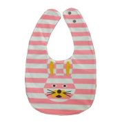TOOGOO(R) rabbit Bowknot Double-sided Cartoon Buttons Baby Bibs Bibs Scarves Colour