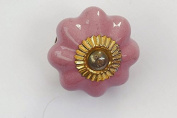 Fancy Drawer Knob Pink Flower Shape With A Gold Top Door Knob Vintage Shabby Chic Cupboard Drawer Pull Handle