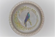 Beautiful Blue Bird Design Set In Glass With Metal Surround Door Knob Vintage Shabby Chic Cupboard Drawer Pull Handle