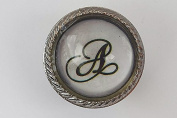 Letter A Round Drawer Knob Set In Glass With A Metal Surround Door Knob Vintage Shabby Chic Cupboard Drawer Pull Handle