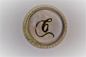 Letter C Round Drawer Knob Set In Glass With A Metal Surround Door Knob Vintage Shabby Chic Cupboard Drawer Pull Handle