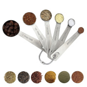 SAVORLIVING Measuring Spoons Set Teaspoons for Measuring Dry and Liquid Ingredients Collapsible Measuring Spoons, 18/8 Stainless Steel,6 PCS