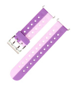 Quick Release Silicone Watch Strap Soft Rubber Smart Watch Strap Pink And Purple