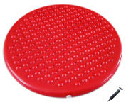 Jr. Inflatable Seat Cushion with Pump, 31cm/12in Diameter for Kids, Red