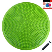 Air Stability Wobble Cushion with Pump, Green, 35cm/14in Diameter, Balance Disc