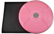 MANYTONEZ Waist Trimmer Twist Board - Large 36cm Diameter Disc with Workout Mat