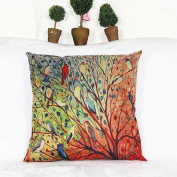 Pillow Cases ,IEason Clearance! Tree Flower Floral Cotton Sofa Pillowcase Cushion Cover