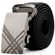 Aobiny Belts Men Leather Automatic Buckle Belts Fashion Waist Strap Belt Waistband