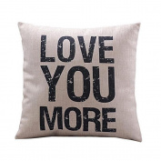 Pillow Cases ,IEason Clearance! Love you More Cotton Linen Cushion Throw Pillow Covers Pillowslip Case