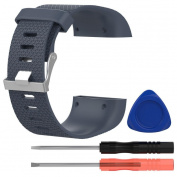 GBSELL Replacement Silicone Wristband Band Strap Clasp Buckle Tool Kit For Fitbit Surge Large