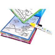 Educational Toy,IEason . Magic Water Drawing Book Colouring Book Doodle Magic Pen Animals Painting