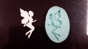 Leaf Fairy Silhouette Silicone mould, Resin Mould, Soap Mould, clay mould, fairy mould, candle mould, woodland mould, fairie mould, mould
