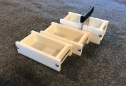 Lot of 2 HDPE Soap Loaf Making Mould and Multi Slot Soap Cutter 0.5-0.9kg per mould