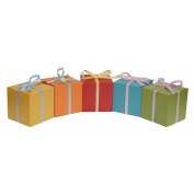 30ct Treat Favour Boxes 4x4x4 - Vintage European Pearlescent Paper in Assorted Coloured for Wrapping Gifts Party Birthday Wedding Baby Shower Craft