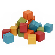 50ct Mini Ring Boxes Gift 2x2x2 - Italy Pearlescent Paper in Assorted Coloured
