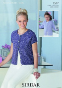 Sirdar Ladies & Girls Cardigan Soukie Knitting Pattern 7517 DK