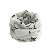 Fheaven Kid Scarf Animal Pattern Stitching O-ring Woollen Baby Scarf Neck Warmer
