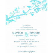 Rustic Woodland Standard Wedding Invitation