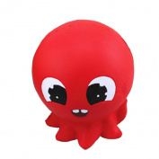 TIREOW Cute Lifelike Red Octopus Squishy Scented Squeezing Slow Rising Toy Decompression Gift