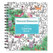 Spiral-Bound Colouring Book 23cm x 22cm -Natural Elements