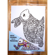 Zendoodle Iron On Transfers Bunny Adult Colouring Inspired