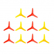 EUDAX 10 Pcs Micro DC Motor 2mm shaft propeller with 3 Vanes 80mm Fan Shape for Fan Leaves Ship Model RC Boat DIY Aeroplane Science and education toys