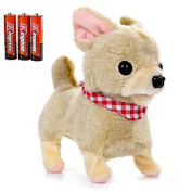 Toysery Puppy Plush Dog Toy for Kids - Puppy Toy Somersaults, Walks, Sits, Barks - Battery Operated