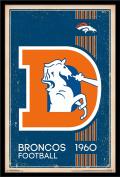Trends International Wall Poster Denver Broncos Retro Logo, 22.375 x 34
