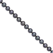 IceCarats 14k Yellow Gold 5 6mm Black Freshwater Cultured Near Round Pearl Bracelet 7.50 Inch