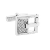 Thompson London Men's Cufflinks Buckle Silver