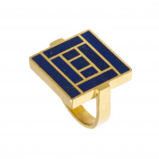 Pippa Small Yellow Gold Plated Sterling Silver Dur Ring - Size L