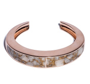 Pamela Love Women's 14ct Rose Gold Plated and Bronze Calcite Classic Inlay Cuff