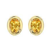 VIANNA BRASIL Women's 18ct Yellow Gold Yellow Beryl and Diamond Earrings Y1237GBE.E5